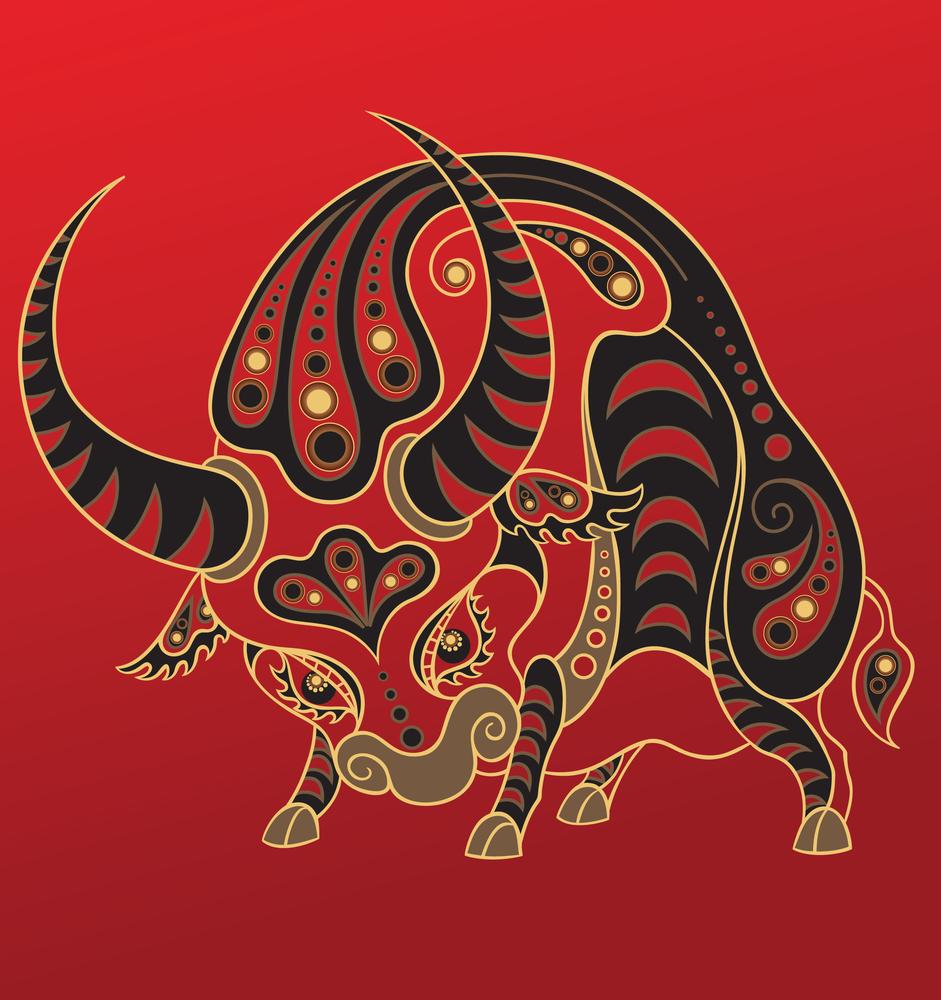 Восточный знак зодиака Бык