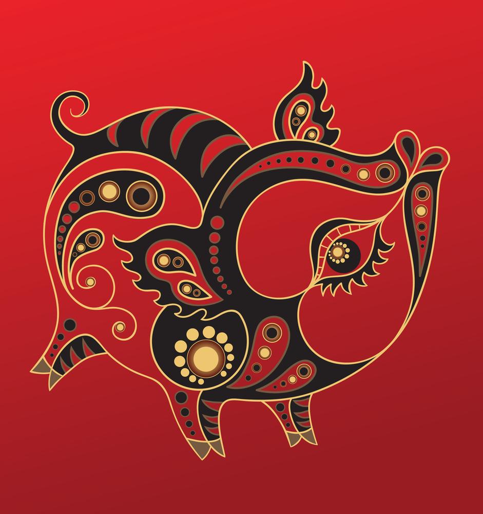 восточный знак Зодиака Свинья