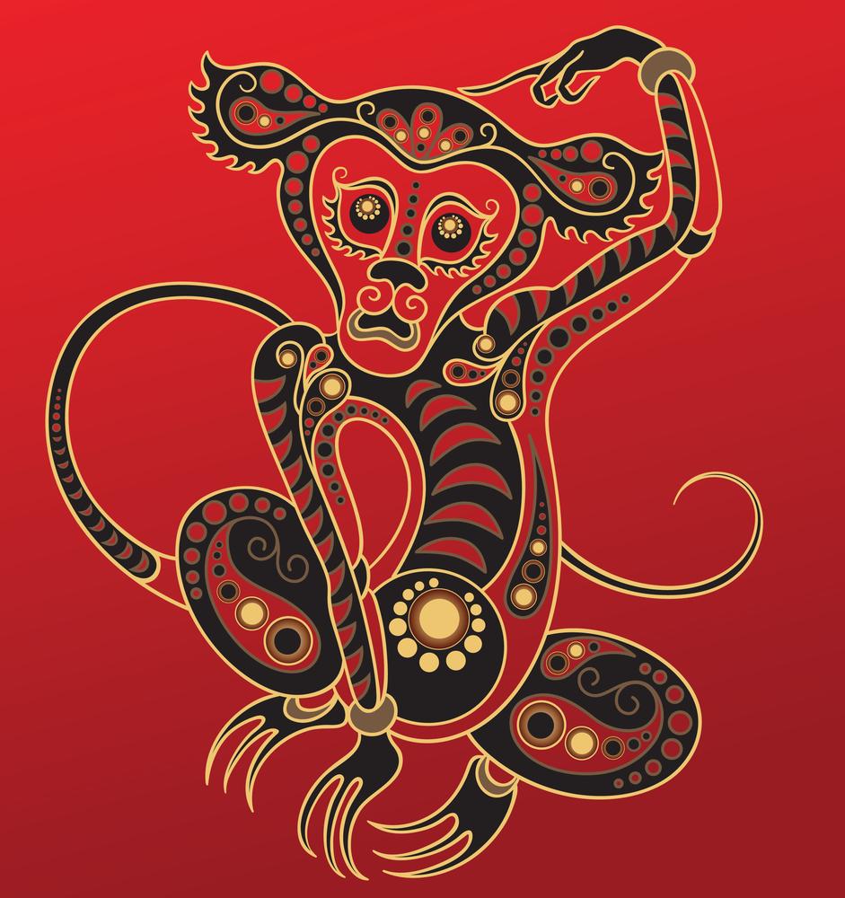 Восточный знак зодиака Обезьяна