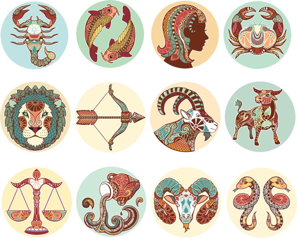 Картинка со знаками зодиака, давно пора надписи