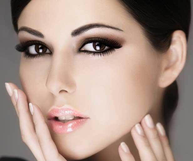 Новогодний макияж для кареглазых