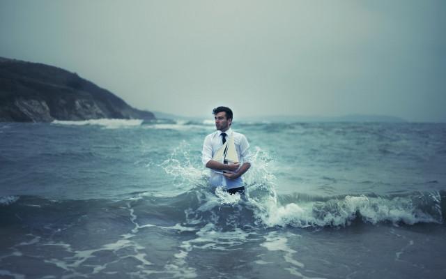 Мужчина Вода