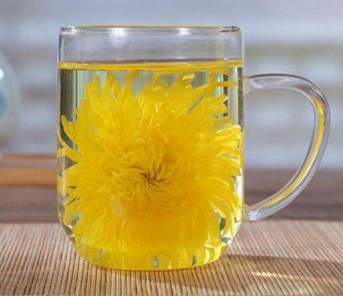 чай с лепестками хризантемы